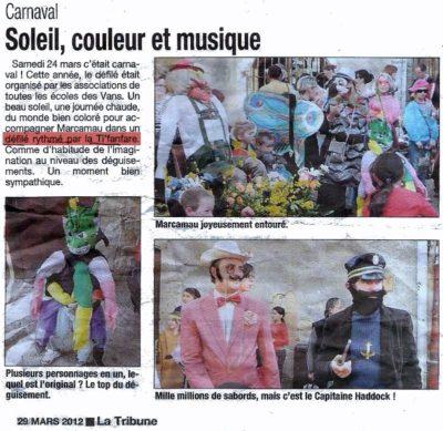 Carnaval des Vans - le 24 mars 2012